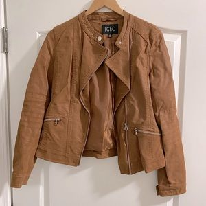 TCEC Leather/Suede Brown Copper Jacket